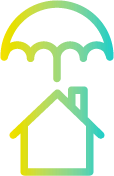 icon of house with umbrella